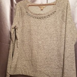 Decree Long Sleeve Sweater With Gems